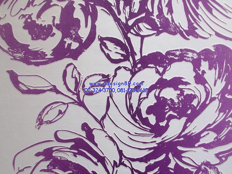 วอลเปเปอร์ลายดอกกุหลาบสีม่วง