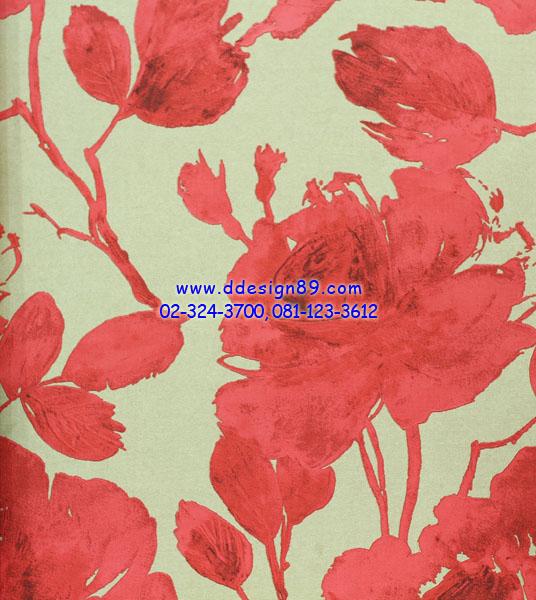 วอลเปเปอร์ลายดอกไม้สีแดง