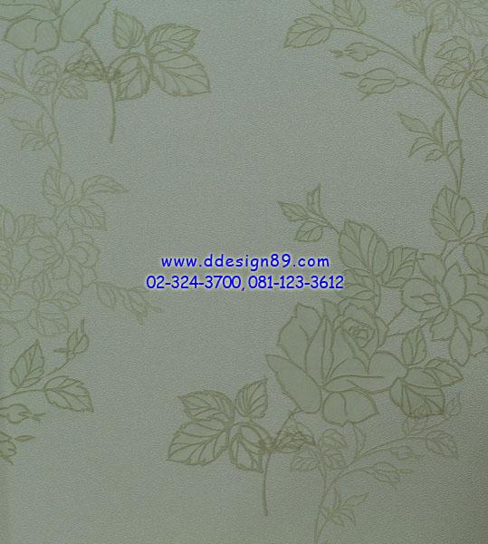 วอลเปเปอร์ลายดอกไม้สีดำพื้นสีขาว