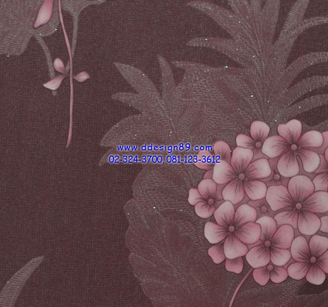 วอลเปเปอร์ลายดอกไม้สีม่วง