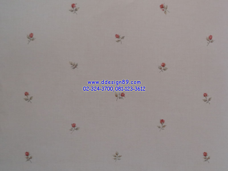 วอลเปเปอรืลายโมเดิร์นดอกไม้พื้นสีขาว