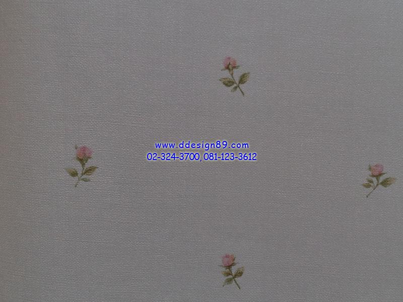 วอลเปเปอร์ลายโมเดิร์นดอกไม้พื้นสีเทา