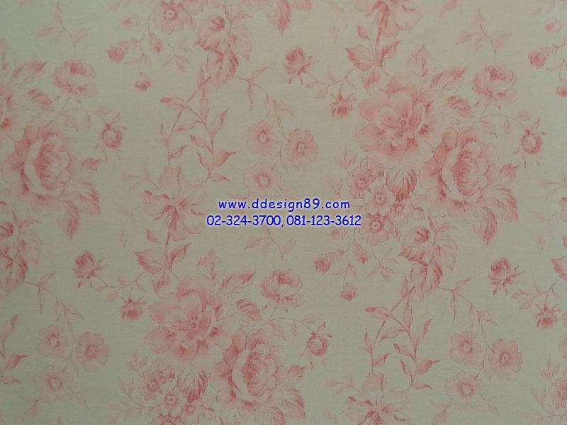 วอลเปเปอร์ลายวินเทจดอกไม้สีชมพู