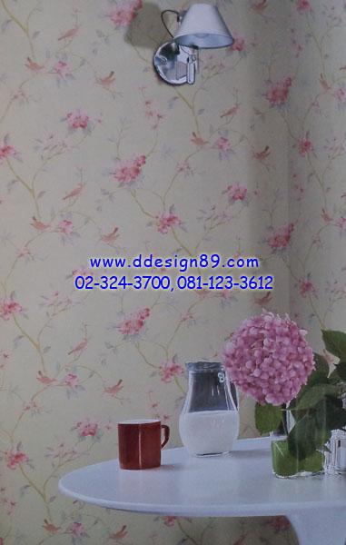 ตัวอย่างวอลเปเปอร์ลายวินเทจลายดอกไม้สีแดง