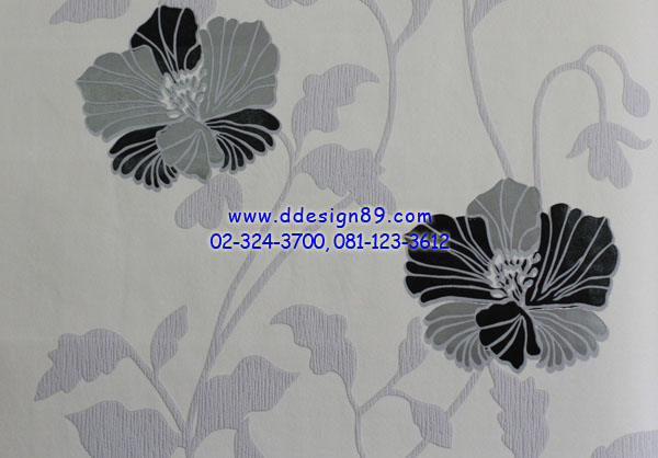วอลเปเปอร์ ลายดอกไม้สไตล์โมเดิร์น