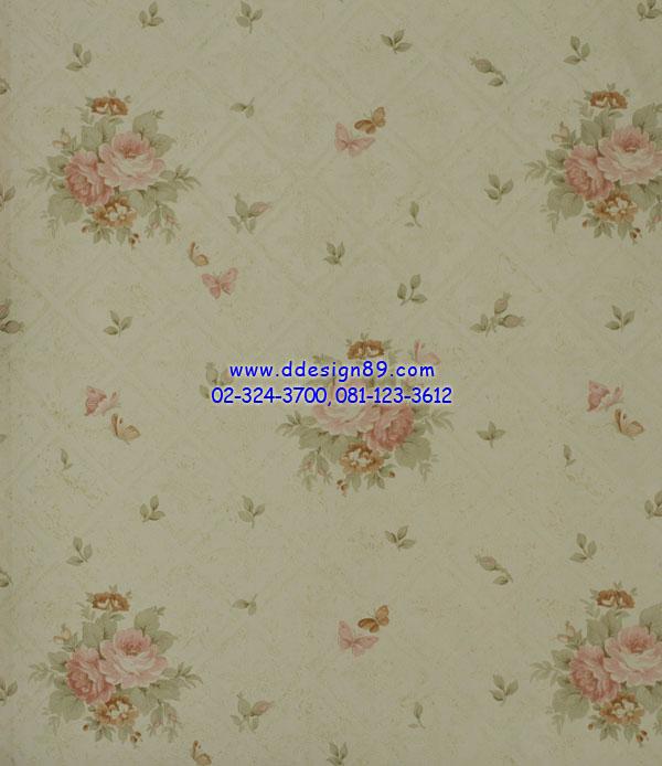 วอลเปเปอร์ ลายดอกไม้วินเทจ