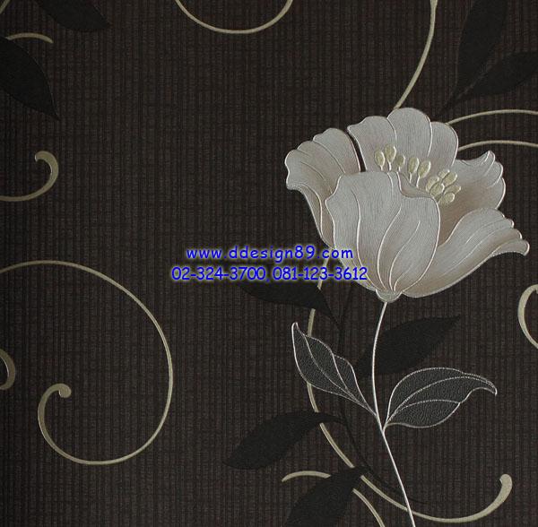 วอลเปเปอร์ติดผนังลายดอกไม้โมเดิร์น