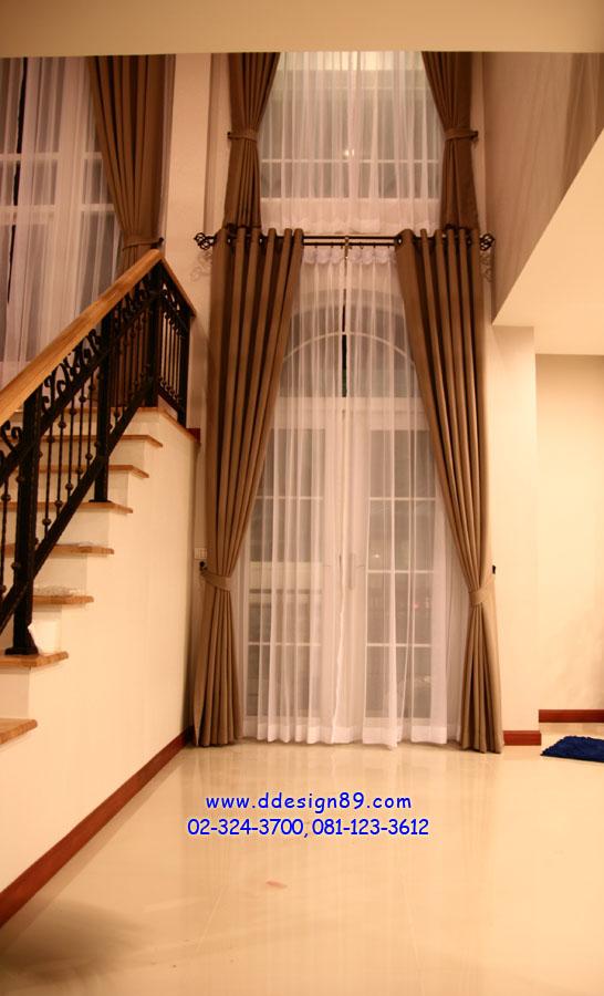 ผลงานติดตั้ง ม่านตาไก่+ผ้าโปร่งแสง โชว์รางไทเทเนี่ยม ม่านพับ มู่ลี่ไม้  บ้านเดี่ยว Casa Grand อ่อนนุช-วงแหวน
