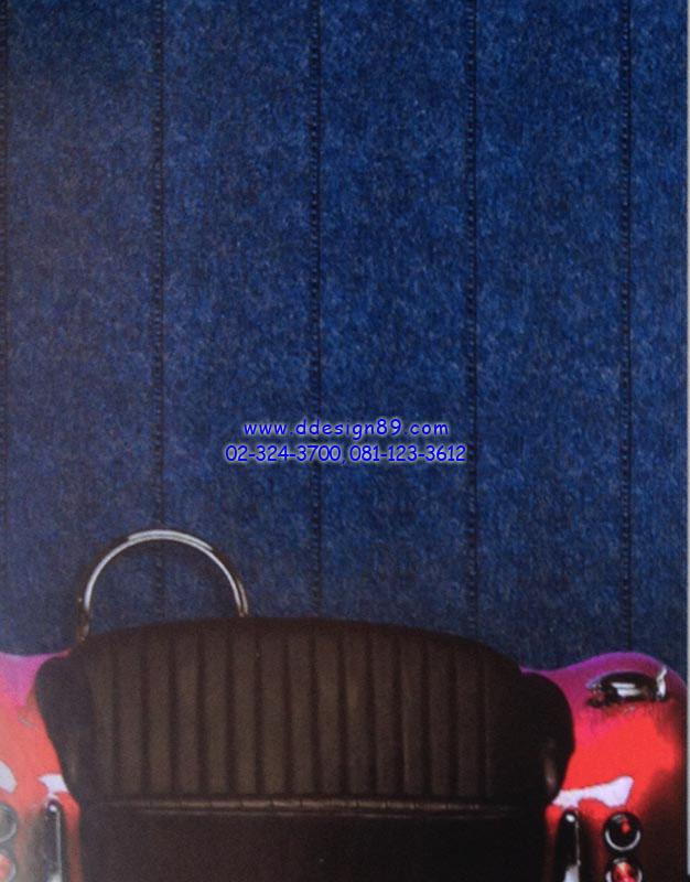 ตัวอย่าง วอลเปเปอร์ติดผนังลายผ้ายีนส์สีน้ำเงิน