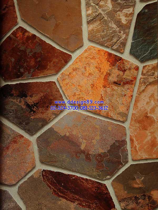 วอลเปเปอร์ติดผนังลายหินอ่อน 6 เหลี่ยม