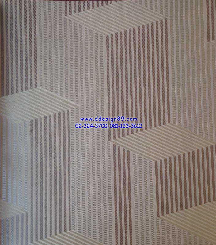 วอลเปเปอร์ติดผนังลายเส้นสีน้ำตาลรูปทรงสี่เหลี่ยม