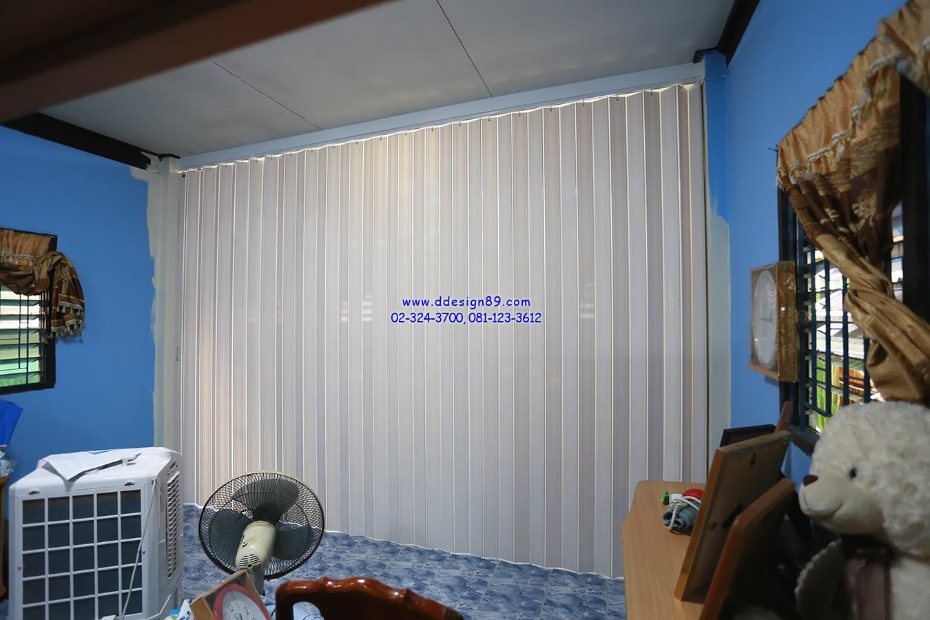ติดฉากแทนประตู ติดฉากกั้นแอร์ ติดฉากกั้นห้อง ฉากแบบทึบสีขาว ที่ซอยเคหะฉลองกรุง หนองจอก