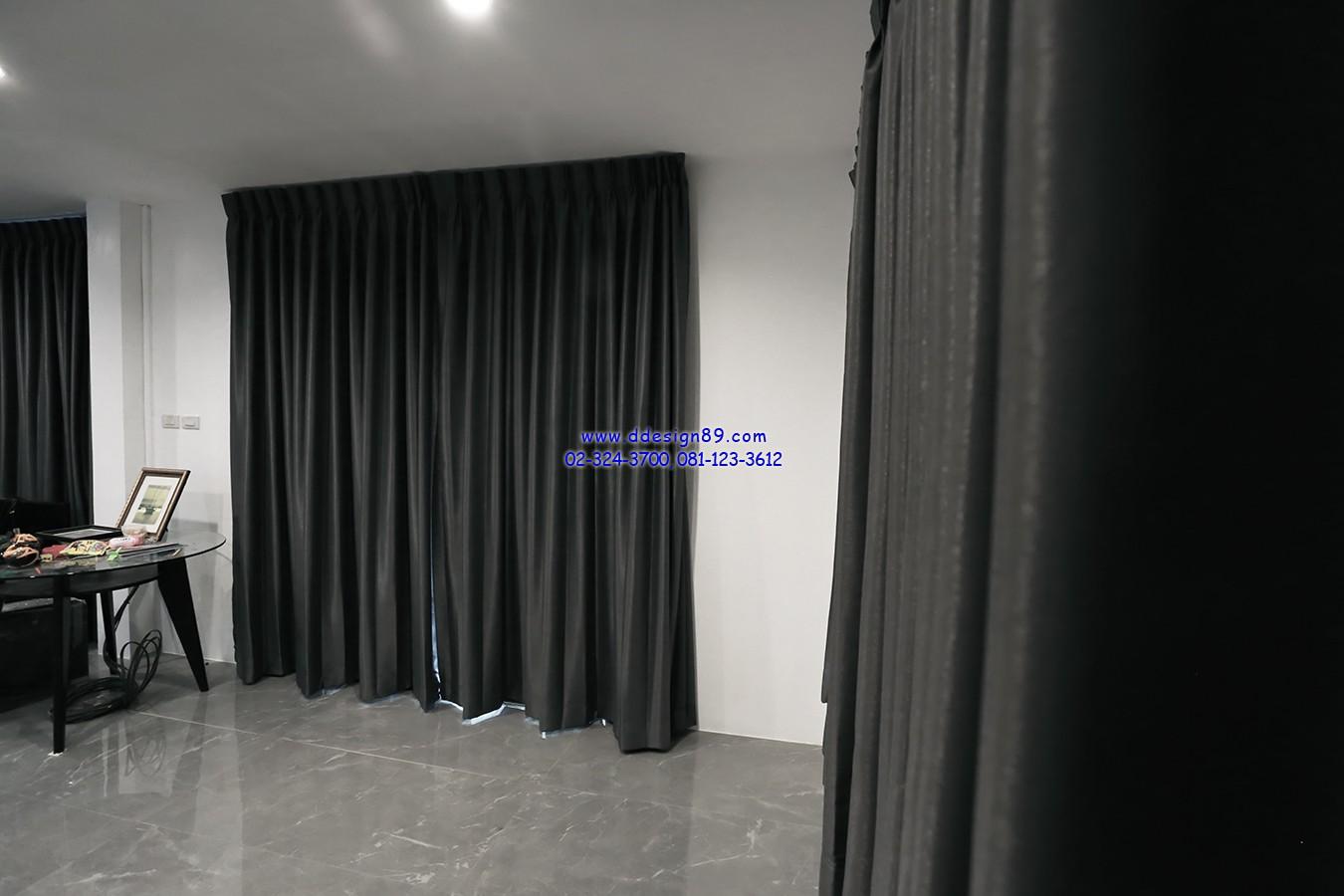 ผ้าม่านติดห้องนั่งเล่น ผ้าม่านกันแสงแดด ติดม่านเก็บเสียง ผ้าม่านกันยูวี ม่านติดห้องรับแขก แต่งห้องนั่งเล่น