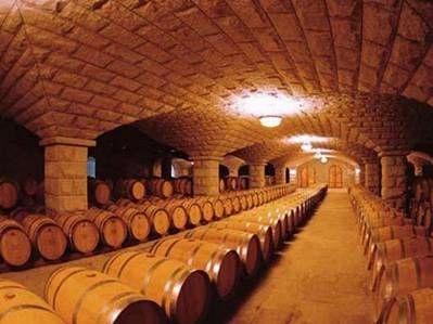 ภายในห้องบ่มหมักไวน์