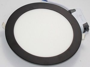พาแนลกลม LED ขอบดำ