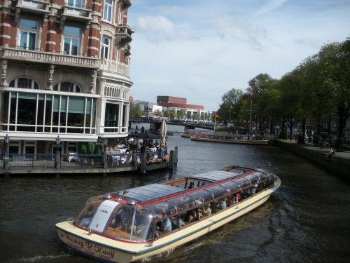 tour boat, Amstel River, Muziektheater in Amsterdam