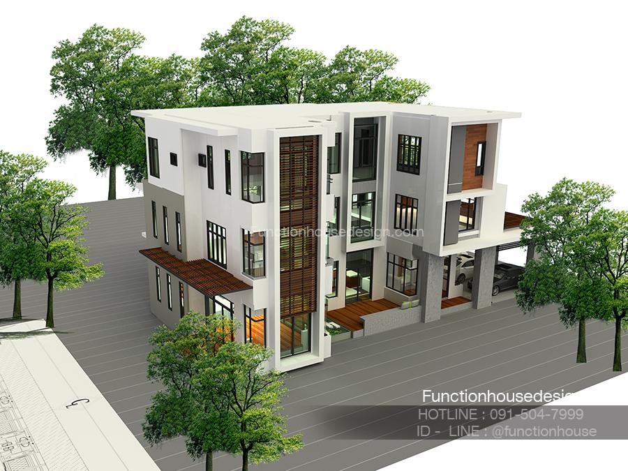 รับออกแบบบ้านโมเดิร์น