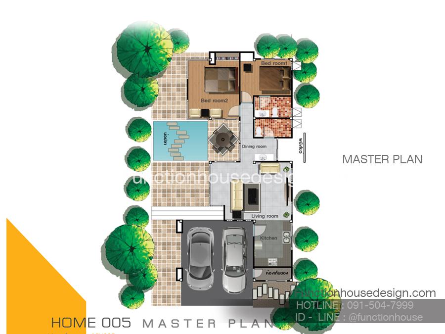 แบบบ้านสองชั้น 1FTH005