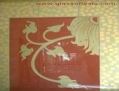 กระจกลายไทยปิดทองคำเปลว