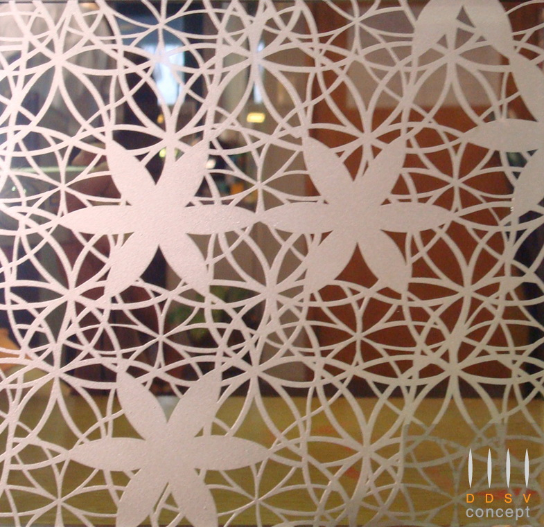 Textured Design on Colour Mirror Glass