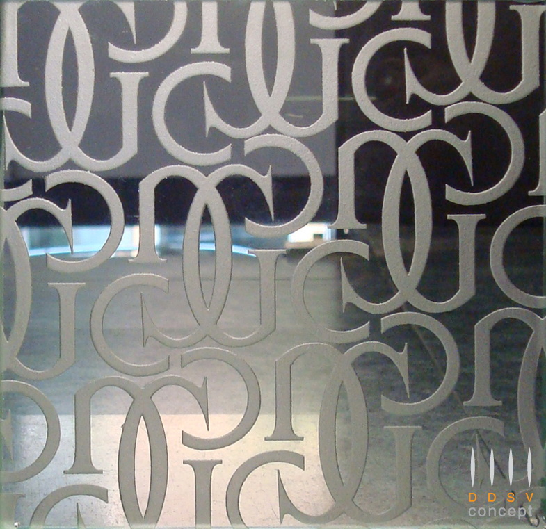Textured Design on Glass