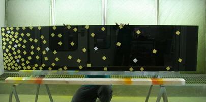 กระจกเคลือบสีปิดทองคำเปลว Glass Effexts