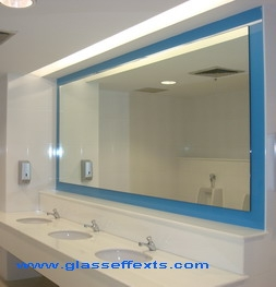 Mirror with Glass Colour Coat Border