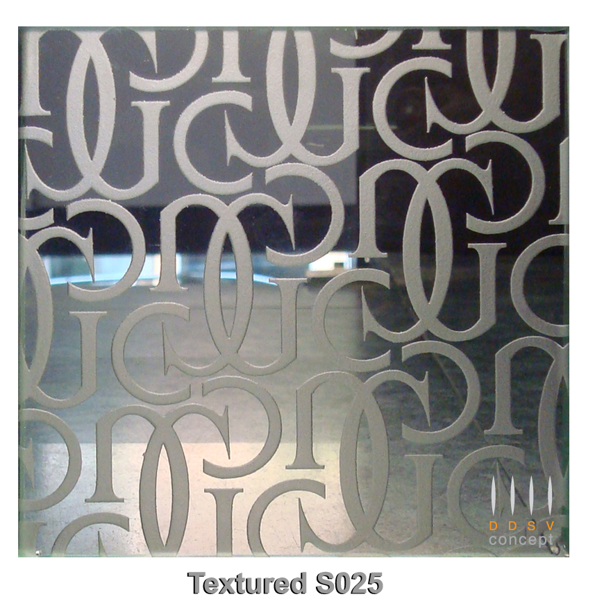 Textured Design on Clear Glass