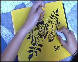 สติ๊กเกอร์,ตัดสติ๊เกอร์,ฉลุลาย,ลวดลาย,Stencils,ทำ Stencils,พ้นสี,ดีดสี,เพ้นท์สี,งานประดิษฐ์,ลายฉลุ,ออกแบบ,เครื่องตัดสติ๊เกอร์