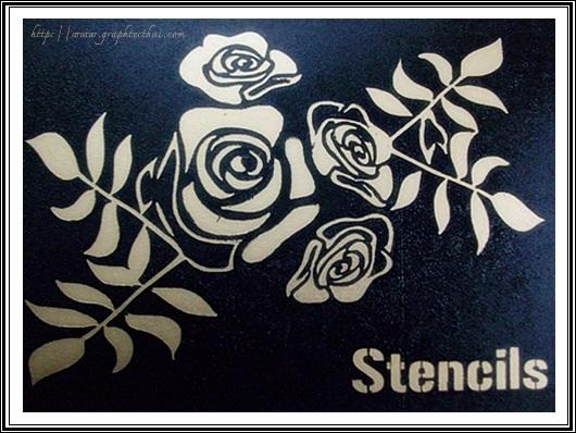 ฉลุลาย,ลวดลาย,Stencils,ทำ Stencils,พ้นสี,ดีดสี,เพ้นท์สี,งานประดิษฐ์,ลายฉลุ,ออกแบบ,เครื่องตัดสติ๊เกอร์,สติ๊กเกอร์,ตัดสติ๊เกอร์