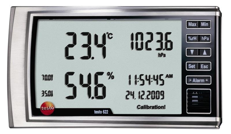 เครื่องวัดอุณหภูมิ ความชื้นสัมพัทธ์ และ แรงดันสัมบูรณ์  testo 622