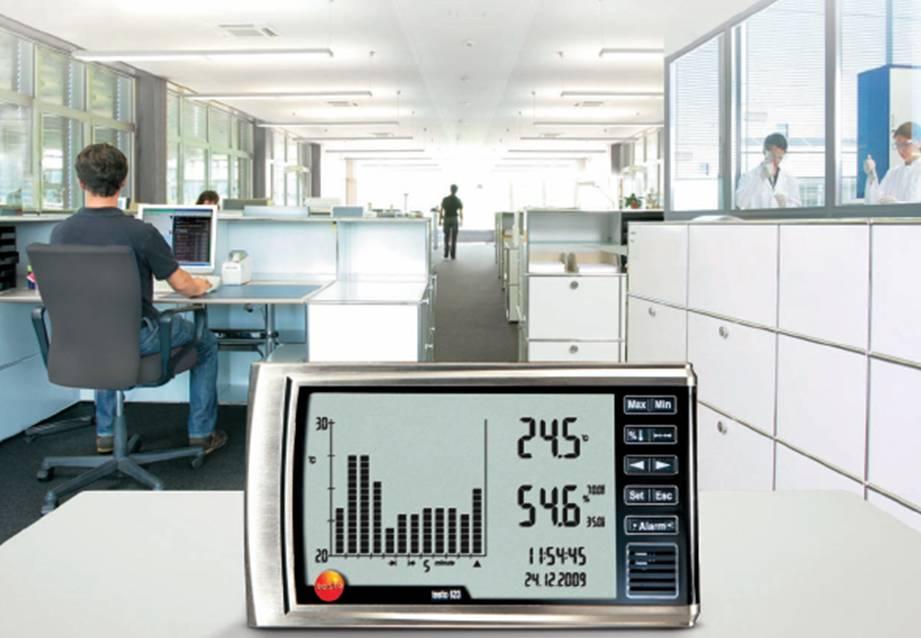 เครื่องวัดอุณหภูมิและความชื้นสัมพัทธ์ testo 623