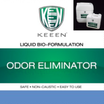 Odor Eliminator  สูตรสำหรับใช้ฉีดพ่นเพื่อกำจัดสารอินทรีย์ ย่อยสลายสารอินทรีย์ ที่เป็นแหล่งกำเนิดกลิ่นโดยตรง จึงทำให้กลิ่นลดลง ใช้ได้ทั้งการกำจัดกลิ่นน้ำเสีย กำจัดกลิ่นขยะ กำจัดกลิ่นบ่อเกรอะ กำจัดกลิ่นจากสิ่งสกปรกที่สะสมตามที่ต่างๆ