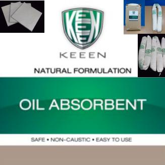 Oil Absorbent  วัสดุดูดซับน้ำมัน สกัดจากเยื่อไม้ธรรมชาติมีคุณสมบัติในการดูดซับน้ำมันได้ดี แต่ไม่ดูดซับน้ำ จึงไม่จมน้ำ ทำให้กำจัดทิ้งได้ง่าย ใช้ได้ดีทั้งการดูดซับน้ำมันที่ปนเปื้อนลงแหล่งน้ำและบนพื้น นอกจากนี้ยังสามารถใช้งานในรูปแบบต่างๆตามความเหมาะสม เช่น ถุงไส้กรอก Boom,แบบแผ่น และชนิดเม็ด