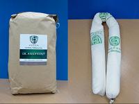 Oil Absorbent ชนิดเม็ดบรรจุถุง และ แบบถุงไส้กรอก(Boom)