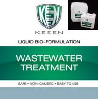 นอกจากนี้ยังสามารถใช้สูตร Wastewater treatment เติม เพื่อเสริมประสิทธิภาพของระบบบำบัดน้ำเสีย เพื่อช่วย ลดค่า FOG / BOD / COD ได้ดียิ่งขึ้น ซึ่งกลุ่มจุลินทรีย์สายพันธุ์เฉพาะของ KEEEN จะย่อยโมเลกุลน้ำมัน ไขมัน รวมไปถึง สารอินทรีย์ต่างๆ ทั้ง โปรตีน แป้ง เป็นอาหาร ที่จุลินทรีย์โดยธรรมชาติหรือในระบบทำงานไม่เพียงพอโดยขบวนการนี้จะใช้ระยะเวลาประมาณ 1-4 สัปดาห์ (กลุ่มจุลินทรีย์นี้จะทำงานได้เต็มประสิทธิภาพในระบบน้ำที่มีการเติมอากาศ) และ ต้องดูปริมาณของของเสียที่เข้ามาร่วมด้วยเพื่อที่จะคำนวณปริมาณและความถี่ในการเติมน้ำยา เพื่อให้การทำงานมีประสิทธิภาพมากที่สุด