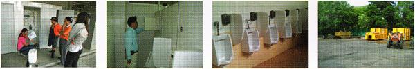 Sanitary Treatment  งานบำบัดกลิ่นไม่พึงประสงค์ และติดตั้งอุปกรณ์หยดอัตโนมัติ เพื่อขจัดกลิ่นในห้องน้ำเพื่อเพิ่มประสิทธิภาพบำบัดน้ำเสีย