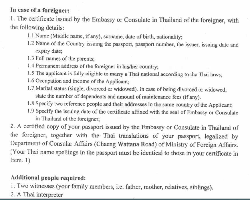 marriage registration in thailand 2