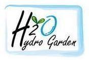 logo h2o hydro garden