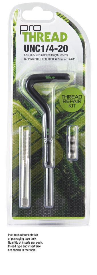 PRO THREAD 3597-3824K Thread Repair Kits,3//8-24