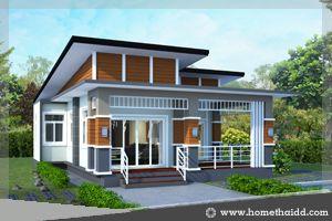 แบบบ้าน,แบบบ้านชั้นเดียว,รับสร้างบ้าน,สไตล์โมเดิร์น,แบบบ้านฟรี