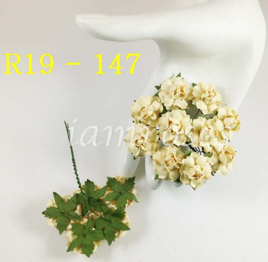 Paper flowers scrapbooking and craft supply wholesale from cream mulberry small paper flowers mightylinksfo