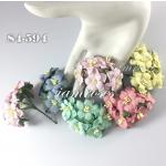 Mixed 5 Sweet Color Small Paper Flowers