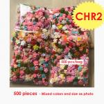 500 Random Mixed Crochet Flowers Wedding Tiny and Small SALE