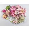 Mixed Pink tone Gardenias / Lily / Leave / Stamens Paper Flowers