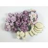 Mixed Soft Lilac Pueple tone Roses / Leave Paper Flowers