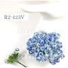 Mini White with Blue Edge Variegated Paper Flowers