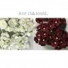 100 Mixed JUST White and Solid Burgundy Paper flowers