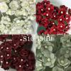 Mixed White / Solid RED/Solid Burgundy/ Dusty Green Paper flowers