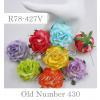 Large Mixed Variegated Rainbow Paper Sweet Roses